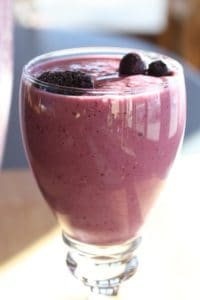 Berry Banana Smoothie in a glass