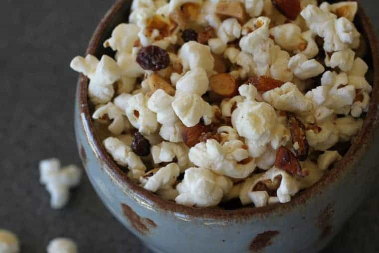LiveBest Popcorn | I like this recipe because each bite is delicious & different! Almonds, walnuts, coconut, dried apricots, raisins and cayenne. Let's get to popping! www.LiveBest.info