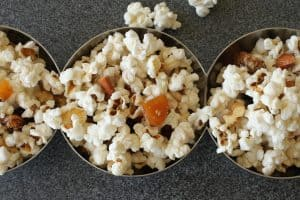 LiveBest Popcorn | I like this recipe because each bite is delicious, healthy & different! Almonds, walnuts, coconut, dried apricots, raisins and cayenne. Let's get to popping! Real food naturally. www.LiveBest.info