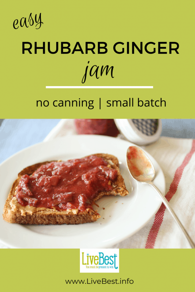 Rhubarb Ginger Jam spread on toast