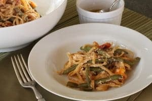 Chile Oil takes this Spicy Vegetable pasta from blah to bling. Real food naturally. www.LiveBest.info