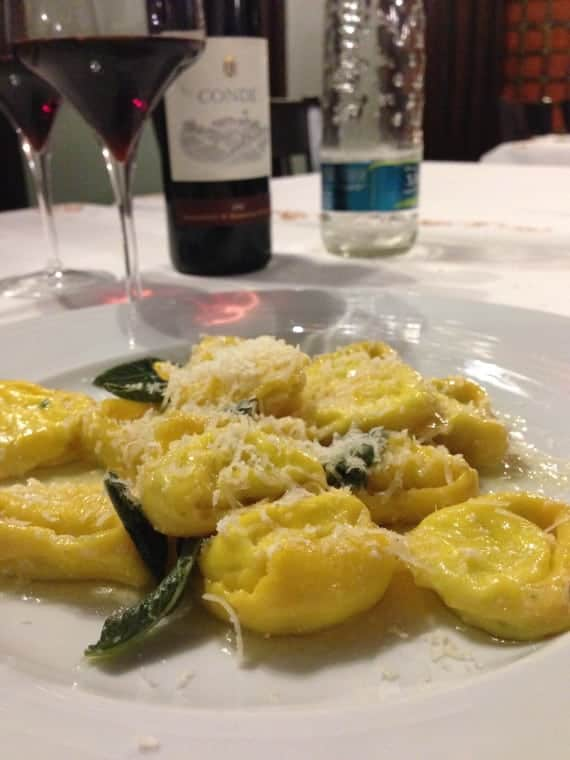 Tortelloni with ricotta and sage