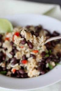 bowl of Gallo Pinto