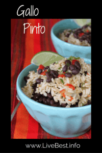 Gallo Pinto | Black beans and rice was my souvenir recipe from Costs Rica. Healthy, hearty and economical! A perfect plant based vegetarian meal. www.LiveBest.info