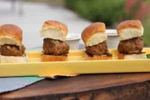 Spicy Turkey Sliders on a plate