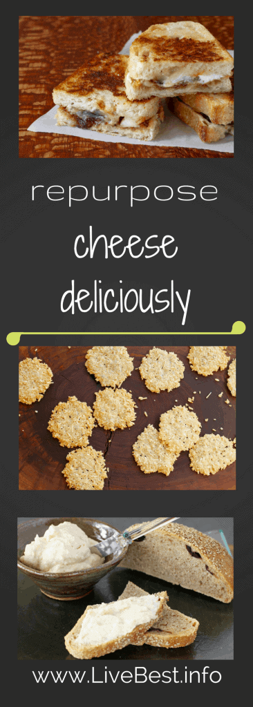 Delicious ideas to repurpose cheese. Repurpose Food is a LiveBest series where I share delicious ways to reduce food waste. Join me as we repurpose cheese to create bestovers - one delicious bite at a time! www.LiveBest.info