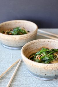 2 bowls of Korean Noodles | In less than 30 minutes, a vegetarian meal that is full of flavor and delivers healthy benefits. Real food deliciously! www.LiveBest.info