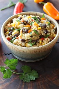 Bowl fo Black Bean Quinoa Salad