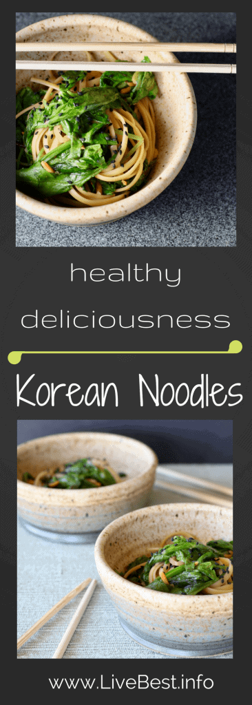 Korean Noodles | In less than 30 minutes, a vegetarian meal that is full of flavor and delivers healthy benefits. Real food deliciously! www.LiveBest.info