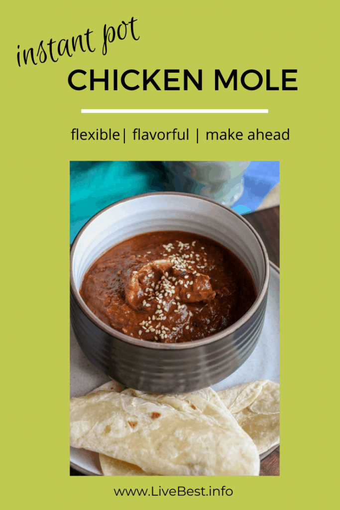 bowl of Chicken Mole with tortillas