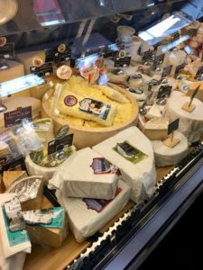 cheese display from Fromagerie des Grondineset Ses Amis