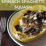 mushroom and spinach stuffed spaghetti squash