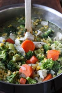 pot of Chicken Vegetable Soup