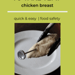 food thermometer in chicken breast